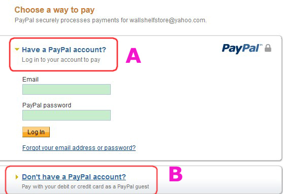 how to choose default credit card on paypal